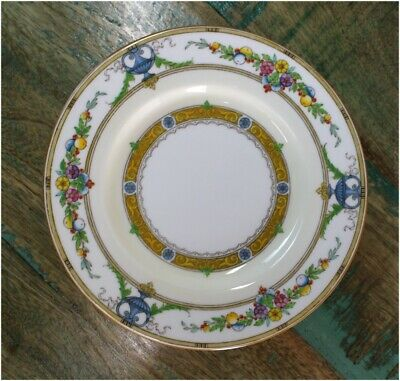 Minton Helena 6 Inch Dia DESSERT Plate Urns Leaves Flowers Gold 1926 England