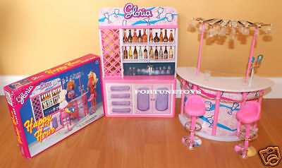 GLORIA FURNITURE SIZE HAPPY HOUR DRINKING BAR With BAR STAND PLAYSET FOR BARBIE