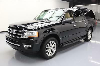 2017 Ford Expedition EL Limited Sport Utility 4-Door 2017 FORD EXPEDITION EL LTD ECOBOOST 8PASS NAV 20'S 50K #A12266 Texas Direct