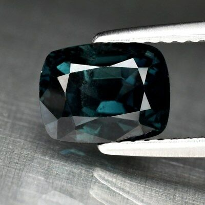 2.38ct 8.2x6.3mm Cushion Natural Blue Spinel, M'GOK