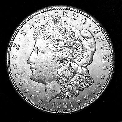 1921 S ~**ABOUT UNCIRCULATED AU**~ Silver Morgan Dollar Rare US Old Coin! #M92