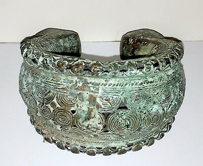 Beautiful Large African Bronze Ornate Currency Anklet - Beautiful Details (#3)