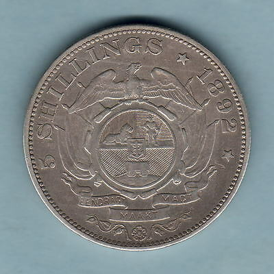 South Africa. 1892 Crown.. Single Shaft on wagon..  aVF/VF - Trace Lustre