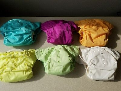 BumGenius Elemental All in One Organic Cloth Diaper Snap LOT OF 6