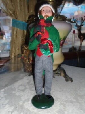 "Byers Choice Caroler Man From 1986 13"" Tall & Very  Handsome Looks Almost New"