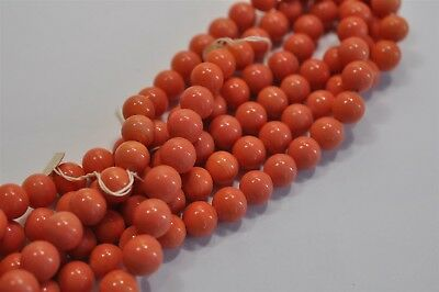 72 Cherry Brand Vintage 10mm Light Coral Glass Bead, Old Haskell Stock K207