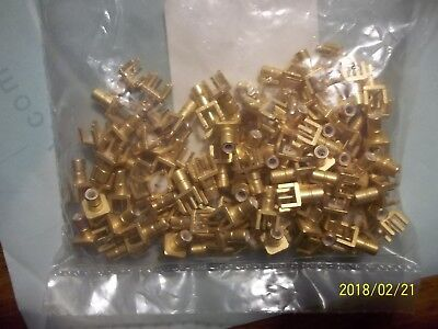 1-LOT -100 GOLD  SMB PCB Mt. STRAIGHT JACK RF CONNECTOR ITT CANNON P/N 051-351-0