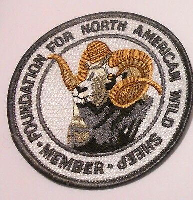 """North American Wild Sheep Patch Embroidered Ale 3-3/8"""" inch  Sportsman Iron on"""