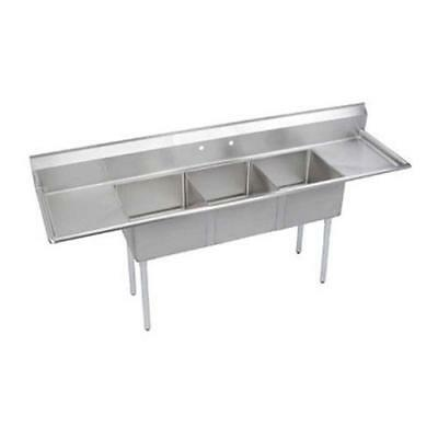 Elkay - SE3C24X24-2-24X - 30 in Three Compartment Sink w/ Drainboards