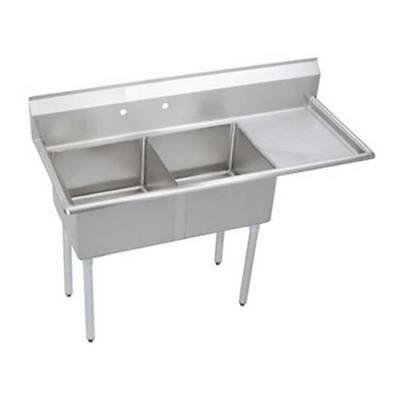 Elkay - S2C18X18-R-18X - 56 1/2 in Two Compartment Sink w/ Right Drainboard