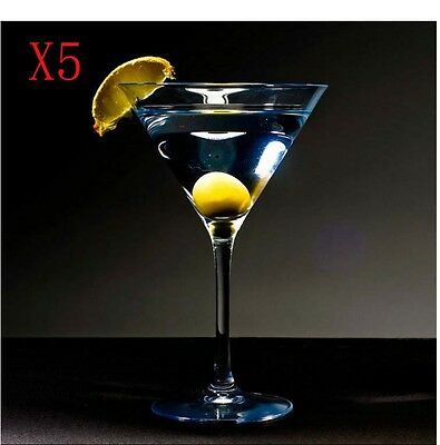 New 5X Capacity 200ML Height 160MM Transparent Cocktail Glass/Glassware %