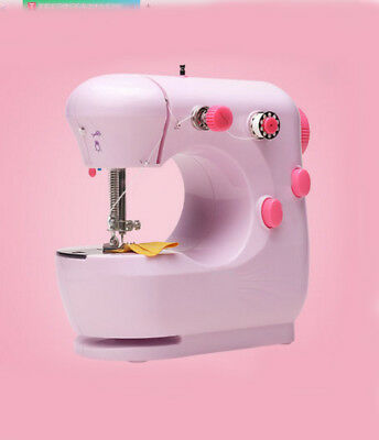 Pink Mini Metal Frame Handheld Electric Sewing Portable Desktop Multifunction
