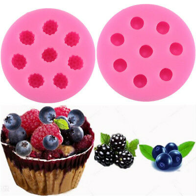 Raspberry Blueberry Chocolate Mini Candle Soap Baking Mold Mulberry Fruit Moulds