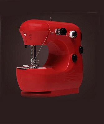 Red Mini Metal Frame Handheld Electric Sewing Portable Desktop Multifunction