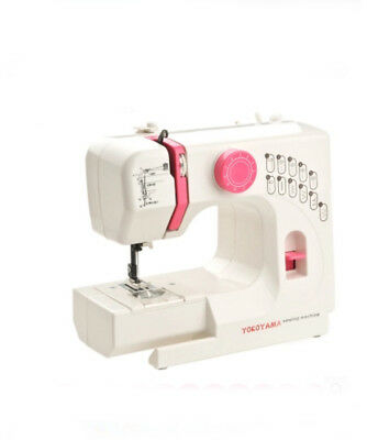 White Electric Metal Frame Mini Handheld Sewing Portable Desktop Multifunction