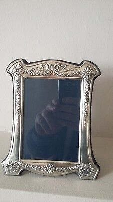 """BEAUTIFUL & QUALITY LARGE 7.25"""" x 6"""" R CARR HALLMARKED SILVER PHOTO FRAME"""