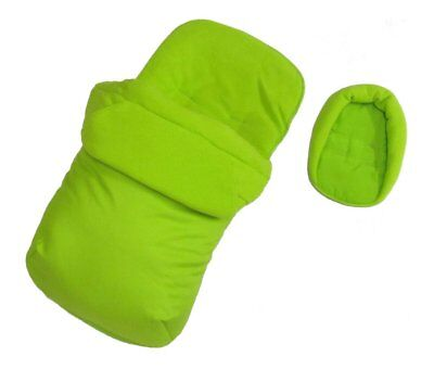 Deluxe 2in1 Lime Footmuff & Head Hugger To Fit Joie Nitro Stroller