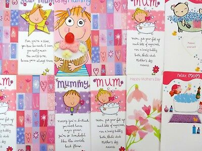 20 Mothers Day Cards Job Lot Assorted Designs Greeting Cards No Envelopes