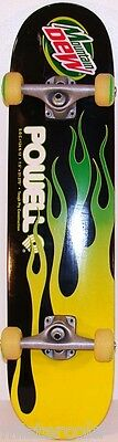 Vintage skateboard MOUNTAIN DEW by Powell with flames unused excellent++ cond