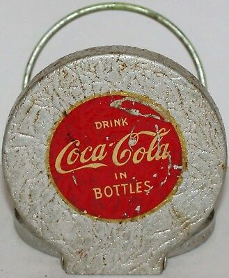 Vintage bottle holder COCA-COLA early automobile one metal Drink In Bottles Rare