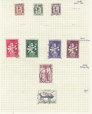 BELGUIM 1956-57 Collection On Old Album Page AS PER SCAN