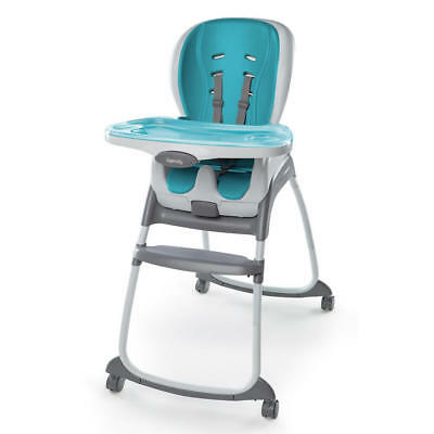 Ingenuity SmartClean Trio 3-in-1 High Chair Aqua 3 Modes Of Use With Wheels