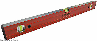 "New Spirit Level Ribbed 12"" 24"" 36"" 48"" 72"" Aluminium Ruler Builders Milled Face"