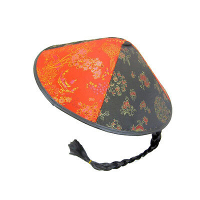 Chinese Round Oriental Coolie Fancy Dress Hat
