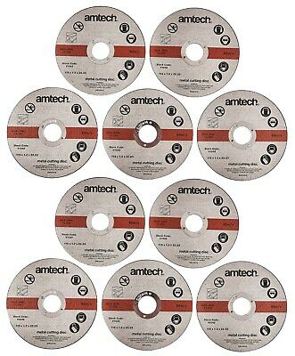 "10 x Ultra Thin Metal Cutting Discs 115mm 4.5"" 4 ½ "" Angle Grinder Slitting New"