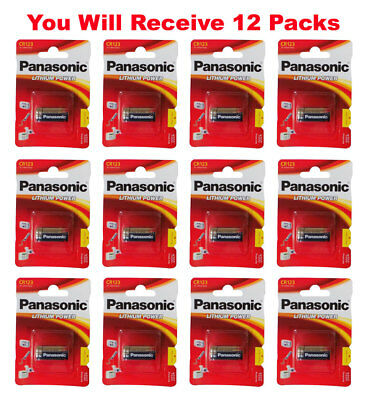 12x Panasonic CR123A Battery CR123 CR 123 Lithium 3V Photo Batteries