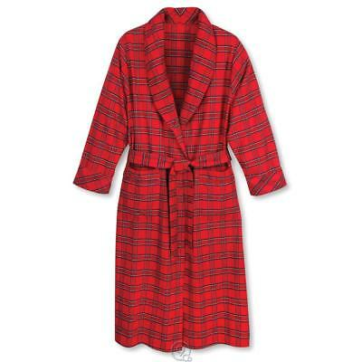 The MAGEE Genuine Irish Flannel Bath Robe Red Plaid Unisex Size XL X-Large