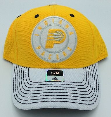 4ae1963f NBA Indiana Pacers Adidas Curved Brim Flex Fit Cap Hat Beanie Style #M661Z  NEW!