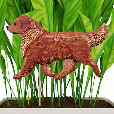 Golden Retriever Planter Pick Stake Dark