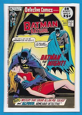 DETECTIVE COMICS #417_NOV 1971_FINE/VERY FINE_BATMAN_BATGIRL_BRONZE 48 Pg GIANT!