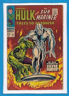 TALES TO ASTONISH #93_JULY 67_VG_CLASSIC HULK Vs SILVER SURFER_SUB-MARINER!