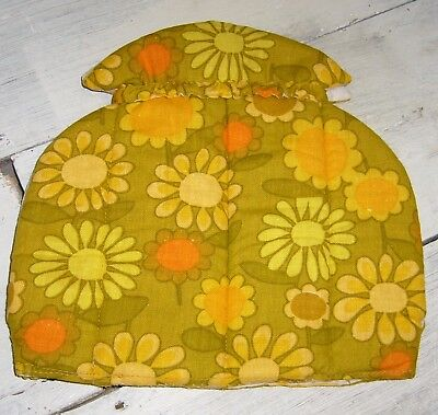 Vintage Floral 1960's / 1970's Flower Power Tea Cosy / Cover – Retro! –