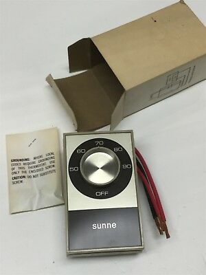 Sunne Controls TB112-001 Double Line Break Thermostat, 50-90F Temperature Switch