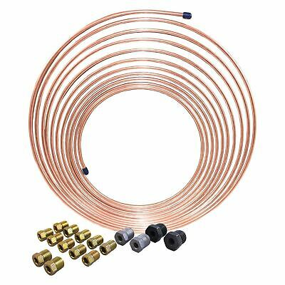 AGS Nickel Copper Brake Line Coil and Tube Nut Kit, 3/16 x 25 CNC-325K