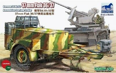 BRONCO CB35079 WWII German Sd.Anh.52 Ammunition for 37mm Flak in 1:35