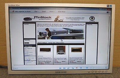 """Samsung SyncMaster 923NW 19"""" Inch Widescreen LCD TFT Colour Monitor No Stand"""