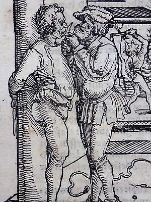 1532 Master of Petrarch - Hans Weiditz - woodcut Flagellation Torture Whipping