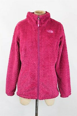 The North Face Girls Pink Fuzzy Full Zip Fleece Jacket SZ XL