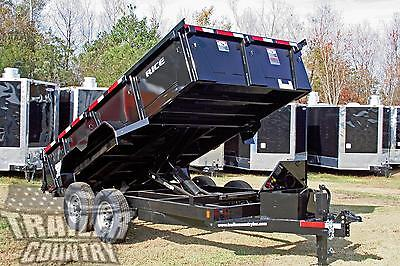"NEW 2018 7x14 7 x 14 14K GVWR Hydraulic Dump Equipment Hauler Trailer 24"" Sides"