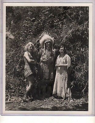 Jim Thorpe Vintage 8X10 Awesome Photo From 1936 Hal Roach Mega Rare Indian Chief