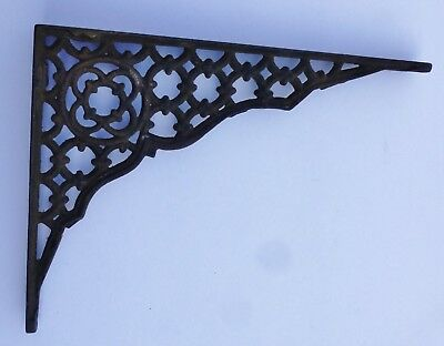 Antique Corbel Cast Iron Metal Bracket Shabby Chic Victorian Farm Gingerbread