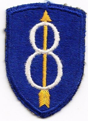 8th Infantry Division WW2 US Army snow back
