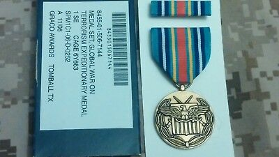 Global War On Terrorism Expeditionary Full Size Medal Govt Issue New In Package