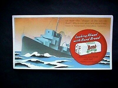 Bond Bread - Military Anti Sub Collectible Advertising Blotter