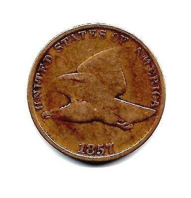 1857  - FLYING  EAGLE  CENT -  Nice coin