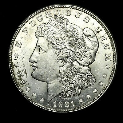 1921 D ~**ABOUT UNCIRCULATED AU**~ Silver Morgan Dollar Rare US Old Coin! #X40